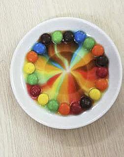 Cầu vồng từ những viên kẹo sắc màu
